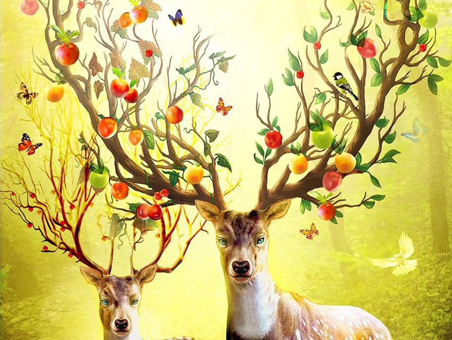 5D DIY Diamond Painting Deer Full Square Embroidery Sale Mosaic Animals Pictures of Rhinestones Accessories in Diamond Painting Cross Stitch from Home Garden