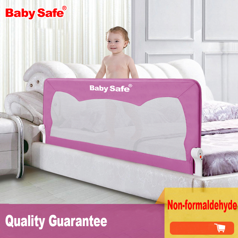 Babysafe bed rails child bed fence infant big guardrail 1.8 meters general bed rails buffer-type enhanced version of european style metal bed iron bed double bed pastoral style student bed 1 5 meters 1 8 meters