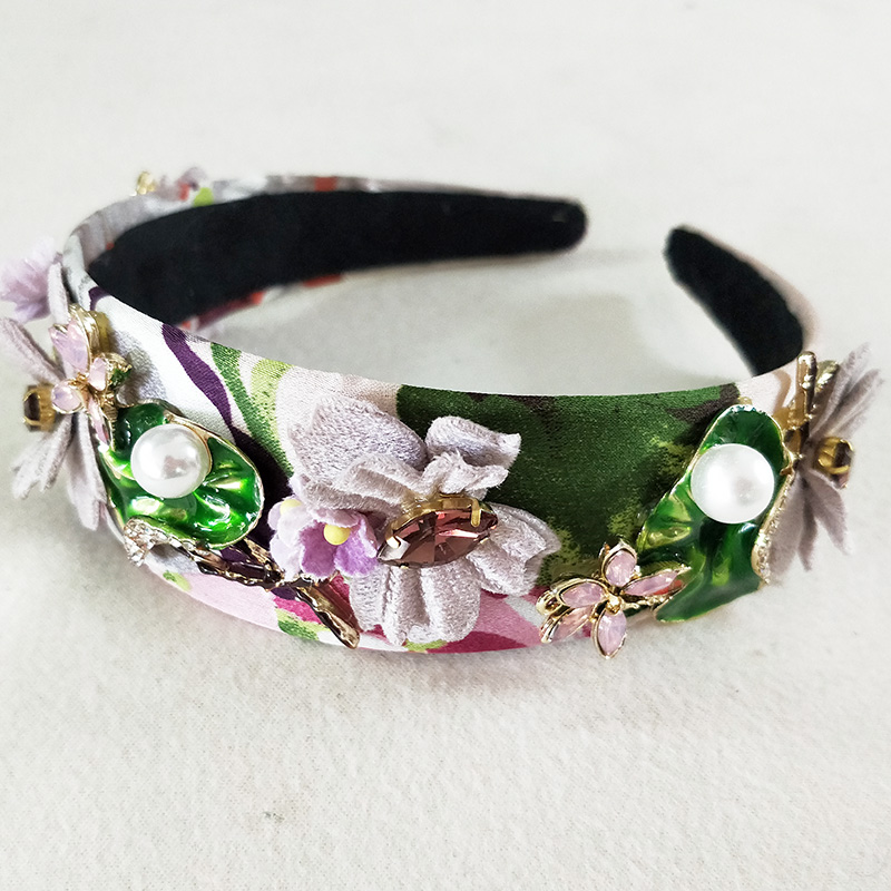 Fashion Cute Gril Crystal Tiara Hairbands For Party Headdress Purple Butterfly Girls Beautiful Hair Tiara Crowns Decorations