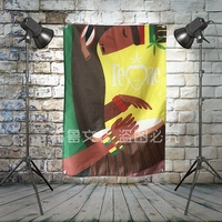 Reggae Heavy Metals Rock Music Banners Hanging Flag Wall Sticker Cafe Theme Hotel Fitting Room Background Decoration