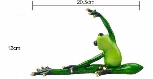 Funny Yoga Frog Figurine 5