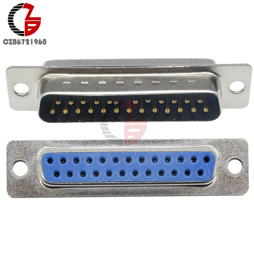 D-SUB DB25 Male Female Connector Serial Cable Extended Adapter 25 Pin DB25F Male Female Converter DB25