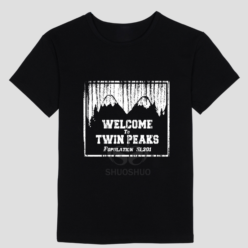 TWIN PEAKS T SHIRT Men High Quality Tees Fashion T Shirt Brand Funny Tee Shirt Hipster Summer High Quality T-Shirt
