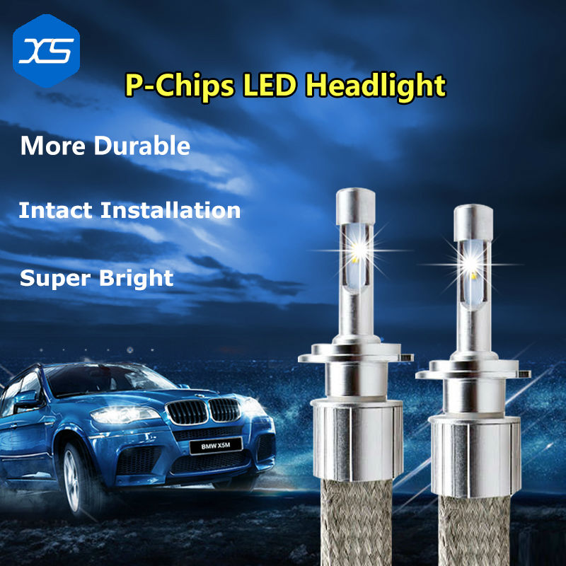ФОТО 2Pcs/Pair 12V 30W H3 6000k 4000LM H7 H9 H11 9005 9006 H1 Car-styling Automotive Headlight Bulbs, Led Headlights For Motorcycles