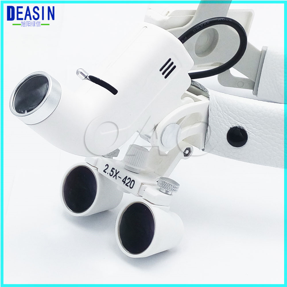 Hot sale 2.5X Operation lamp surgical headlight Dental Loupes Medical Magnifier Dental Loupes hot unisex hospital medical caps surgical caps operation caps scrub lab clinic dental for doctor nurse100