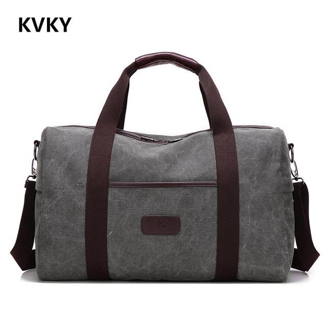 2017 New Vintage Men Canvas handbag High Quality Travel Bags Large Capacity Women Luggage Travel Duffle Bags Folding Bag bolsas