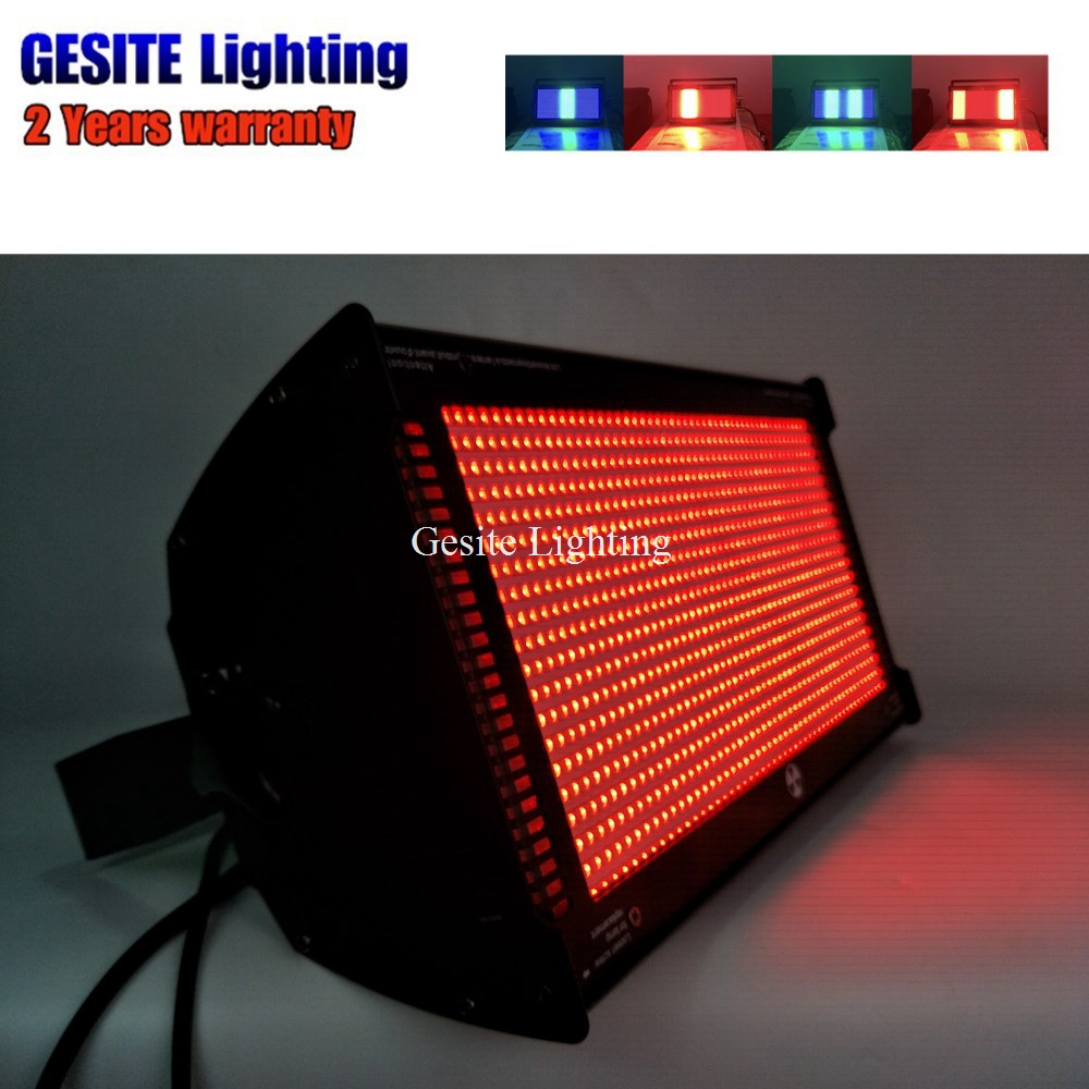 Strong Flash White Color 1000W LED DMX Stage Light Professional DJ Disco Rainbow Colorful Strobe