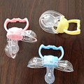 Wholesale Funny Pacifiers Silicone Baby Pacifier Dummy Clips Soother Nipple Toddle Newborn Baby Pacifier Clip Care
