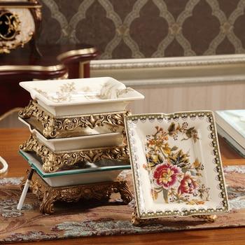 European Ceramic ashtray retro fashion large office room table jewelry ornaments