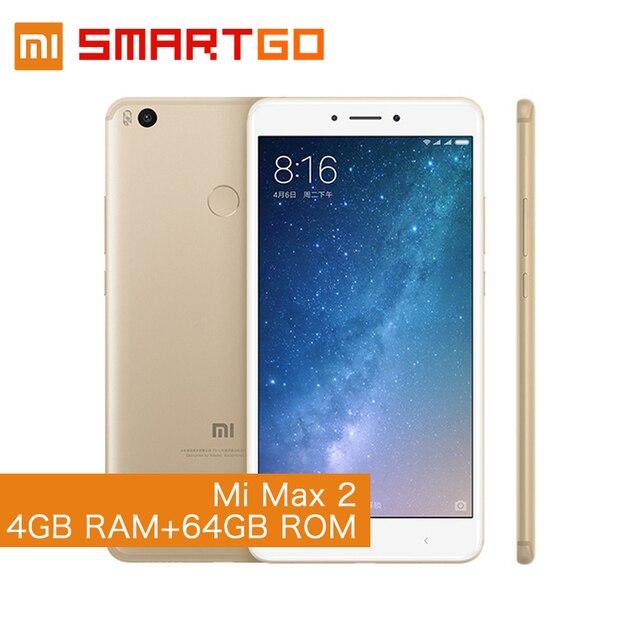 """Оригинал Сяо Mi Max 2 4 ГБ Оперативная память 64 ГБ 6.44 """"Дисплей Snapdragon 625 Octa Core мобильный телефон Max2 5300 мАч аккумулятор повышенной емкости"""