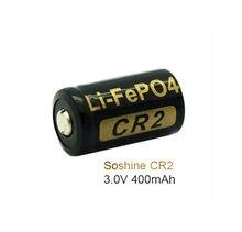 Soshine CR2 400 mAh bateria 3.2 v LiFePO4 akumulator 15266 CR2 bateria z akumulatora pole ochronne