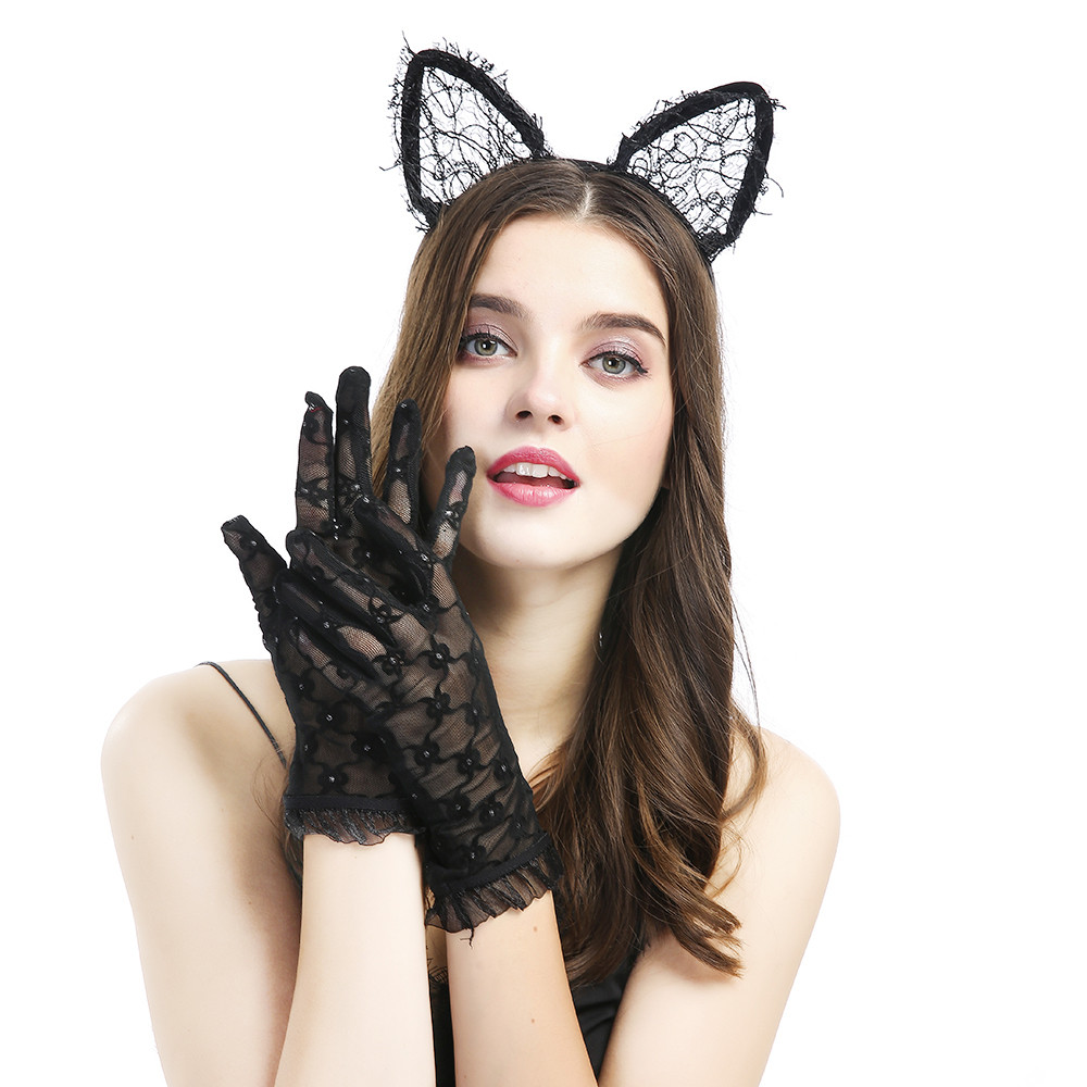 Sexy Lingerie Women Mesh Sunscreen-lace Lace Sexy Black Short Gloves Sex Toys For Women Adult Games Sex Toys for Couples