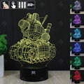 HUI YUAN Tank 3D Night Light RGB Changeable Mood Lamp LED Light DC 5V USB Decorative Table Lamp Get a free remote control
