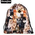 Deanfun 2017 mujeres mochila impresión bolsa de picnic mochila feminina bolso de lazo para hombre mochilas harajuku gatos