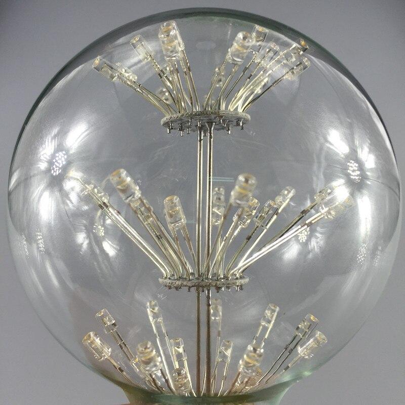 10 шт. G80 Dragon Ball светодиодный светильник в стиле ретро со звездами 3 Вт E27 AC85 265V энергосберегающий Теплый Белый античный светодиодный светильник из стекла для ресторана - 4
