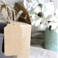 Cheap 500pc L 10 5cm Brown Kraft Paper Hang Tags Wedding Party Favor Punch Label Price