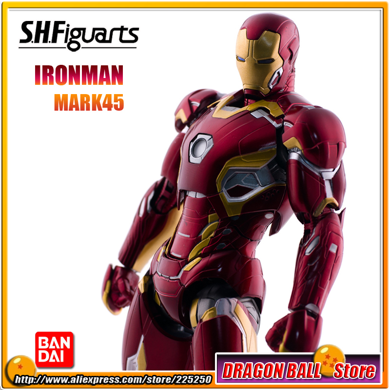 Avengers 2 Age of Ultron Original BANDAI Tamashii Nations SHF/ S.H.Figuarts Action Figure - Iron Man (Ironman) MARK 45 фигурка planet of the apes action figure classic gorilla soldier 2 pack 18 см