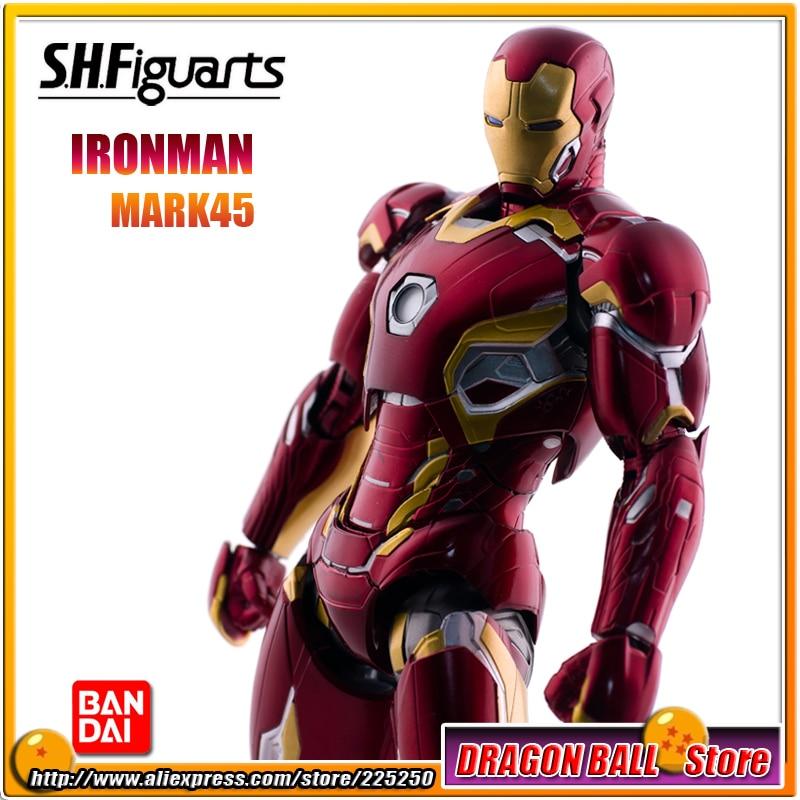 Avengers 2 Age of Ultron Original BANDAI Tamashii Nations SHF/ S.H.Figuarts Action Figure - Iron Man (Ironman) MARK 45 original bandai tamashii nations s h figuarts shf action figure iron man mark 3 from iron man