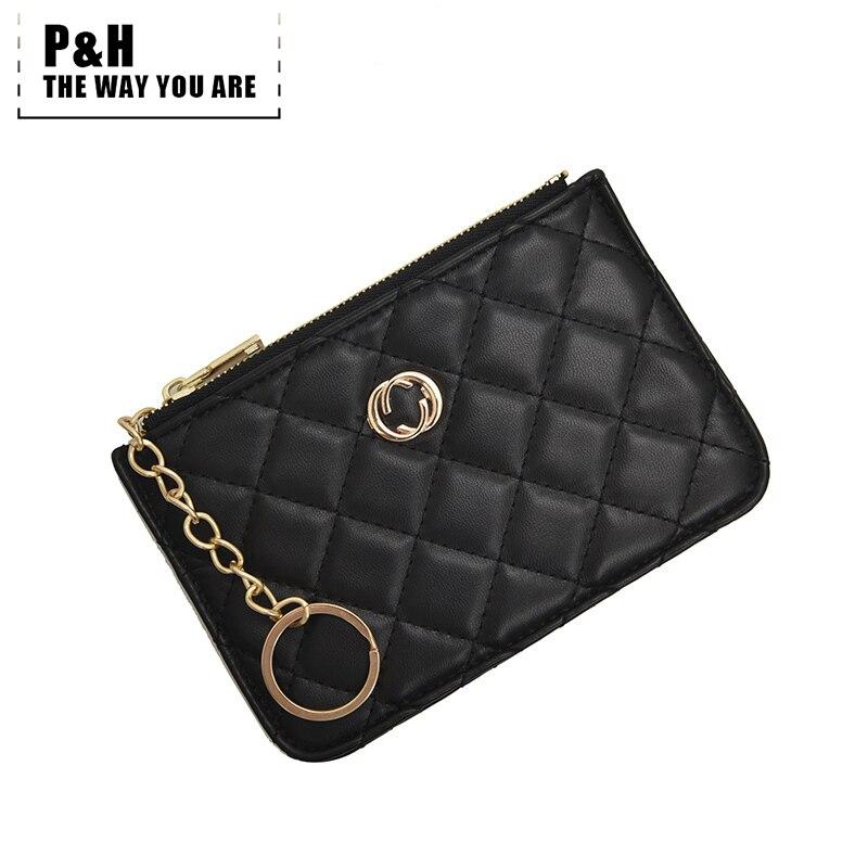 Pat&hap Plaid GG Styel Womens Purse Leather Coin Purses Small Wallets Ladies Card Bag Women Clutch Women Female Purse Wallet
