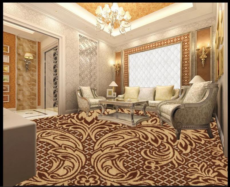 ФОТО Europe retro 3d floor pattern custom 3d floor wallpaper murals pvc waterproof self-adhesive plastic floor