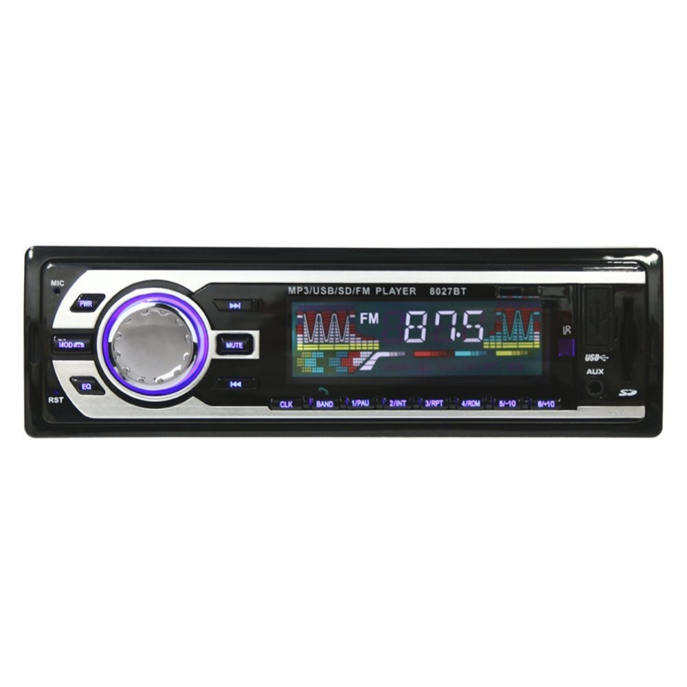 TDA7388 Autó MP3 lejátszó jármű Sztereó hang FM vevőkészülék Műszerfalon egy din Aux bemeneti vevő USB MMC WMA rádió lejátszó