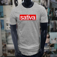 2018 Creative Novelty Summer Style Hot Sale 100 T Shirt Cotton Sativa Smoker Smoke Weed Men