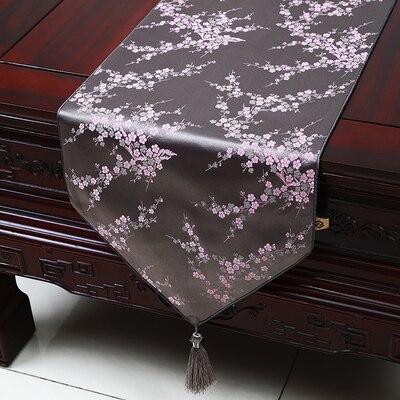Cherry blossom Elegant Silk Damask Table Runner Jacquard High End - Տնային տեքստիլ