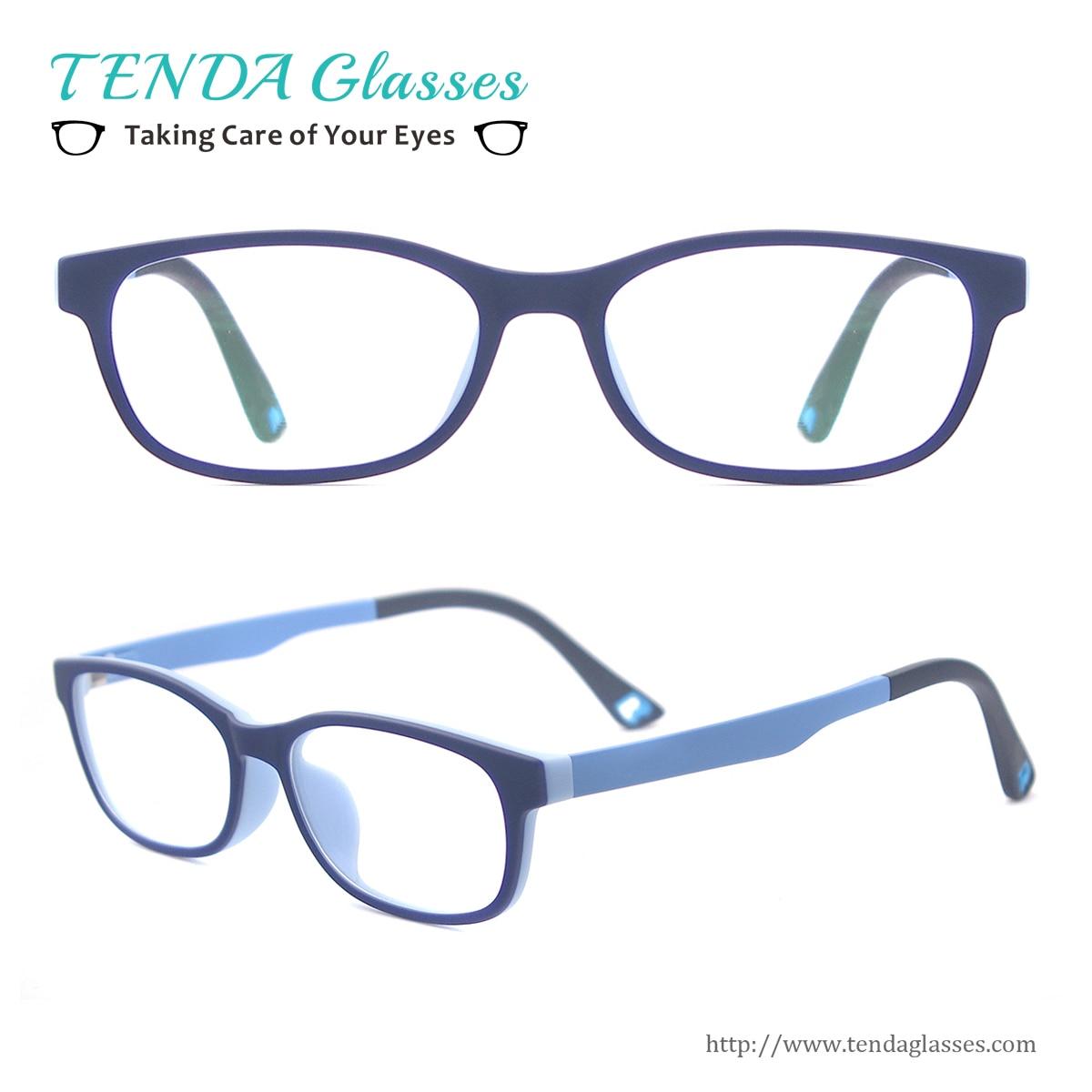 Kids Oval Ultem Spectacles Girl Boy Soft Eyeglass Frames ...