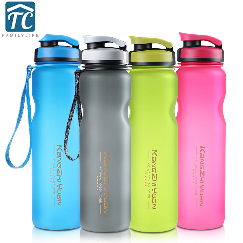Water Bottles 600ml 1000ml Capacity Drinking Water for My Water Bottles Portable Space Bike Cycling Frosted Sport Bottle