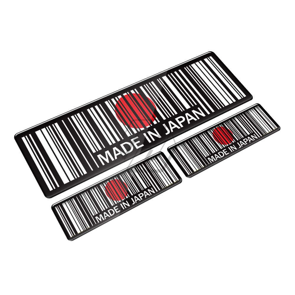 High Quality 3D Bar Code Sticker Made In Italy Motorcycle Tank Pad Decal Case for Honda Yamaha Suzuki Kawasaki KTM BMW in Decals Stickers from Automobiles Motorcycles