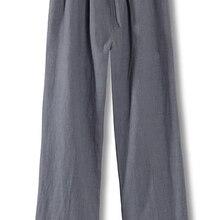 Серый/зеленый/синий/черный высокий класс хлопок и лен мужские кунг-фу боевых искусств брюки мужские Тай Чи Штаны