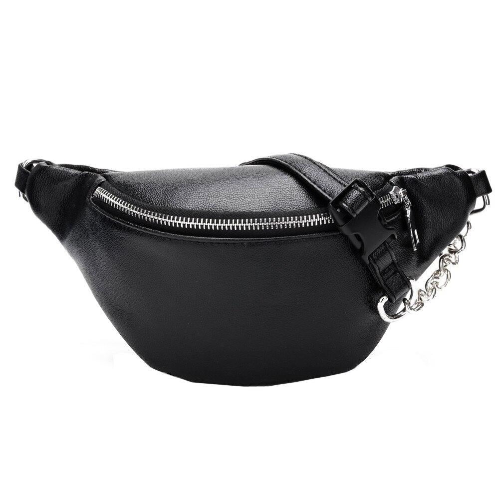 Women Chest Bags Fashion Chain Leather Messenger Bag Shoulder Bag Female Large Capacity Zipper Phone Money Waist Packs*//