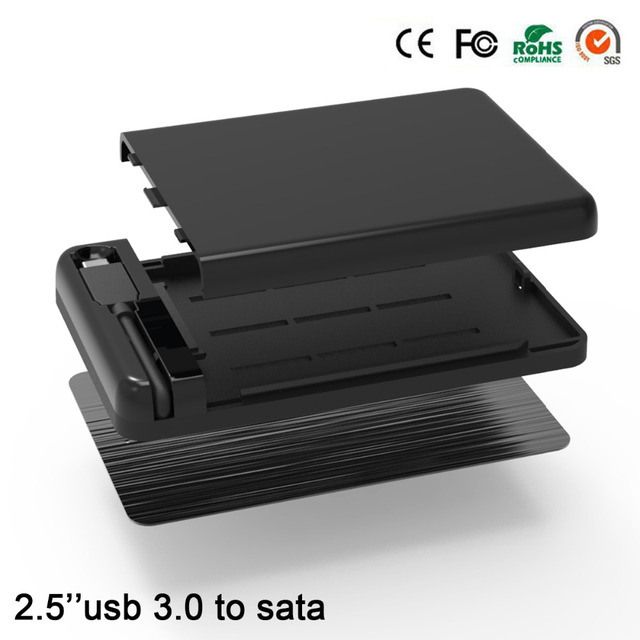 Externo usb hdd adapter Type C sata hdd caddy  2.5 hdd enclosure usb 3.0 5GBPS hdd box hd enclosure for 7/9mm hard drive