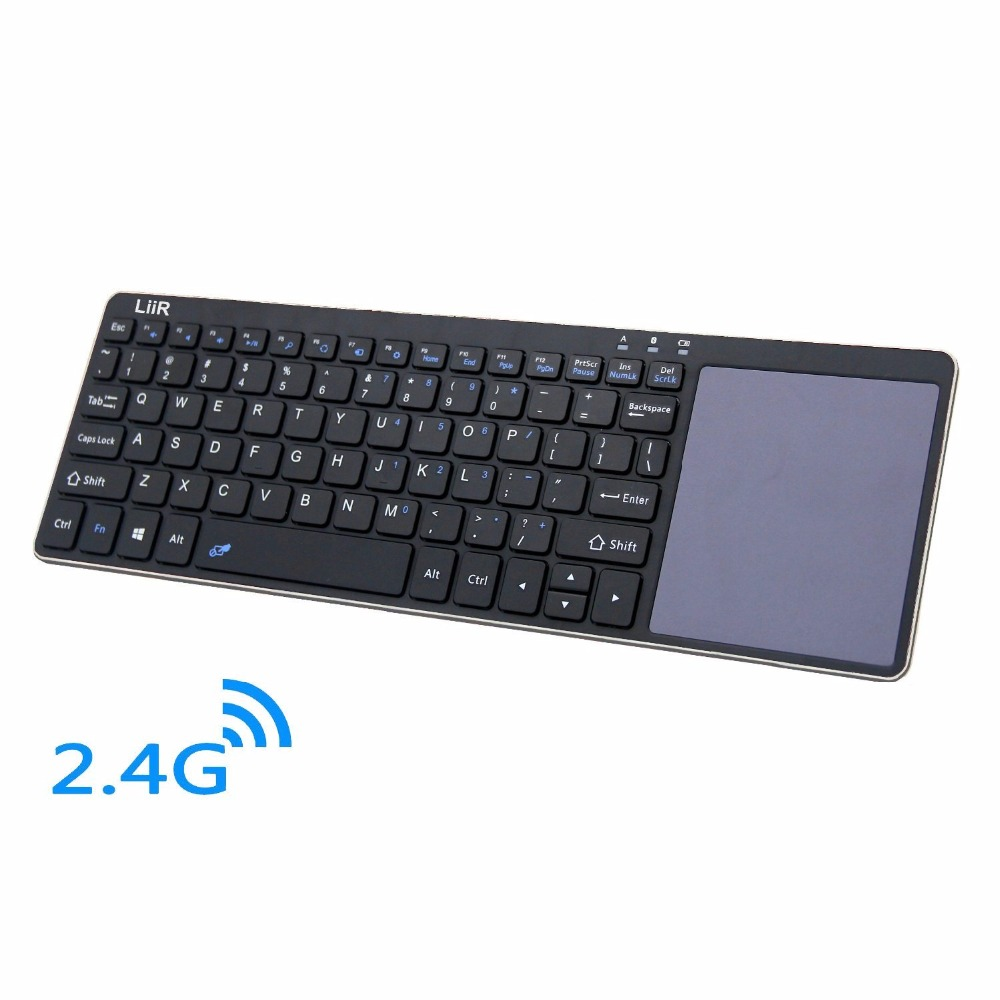 liir wireless keyboard with multi touchpad touch keyboard for windows linux android ios tablet. Black Bedroom Furniture Sets. Home Design Ideas