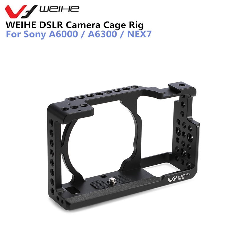 WEIHE DSLR Protective Case Cover Camera Video Cage Stabilizer Rig Camera Protective Cage for Sony A6000 / A6300 / NEX7