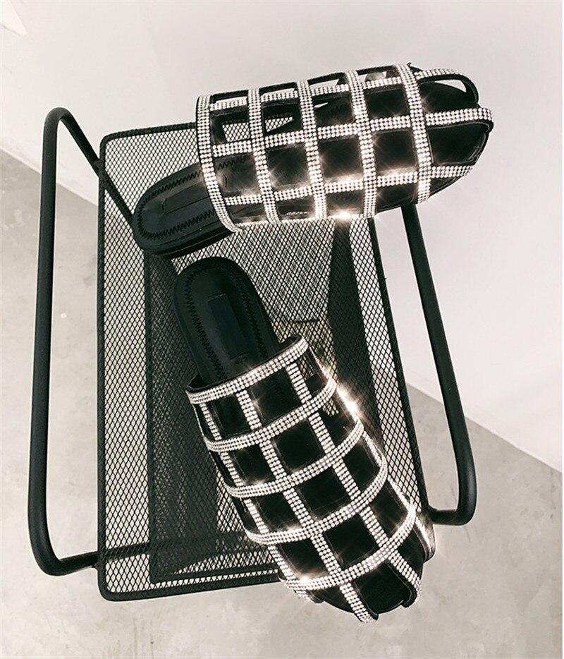 Strass Modo Da Rete Muli Giochi Di Donna Aziende Spring Presentazioni New Bling Paillettes Outwear Black Produttrici Delle Piatto Estate Pantofole Donne Owzqp8SX