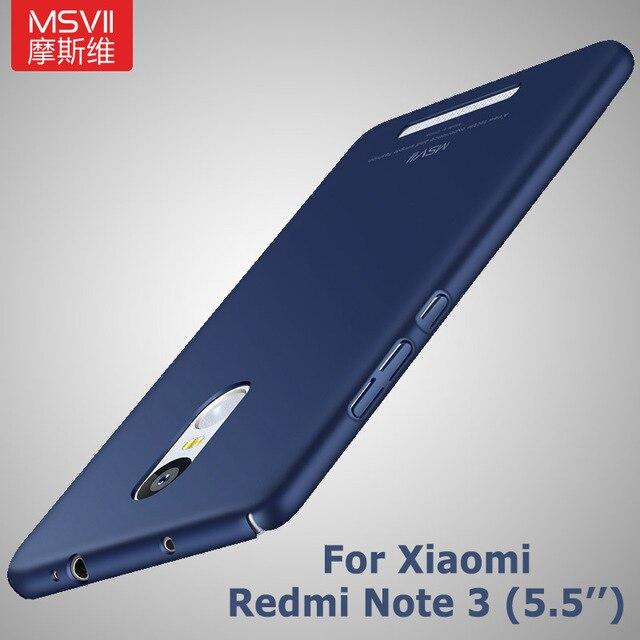 """MSVII Xiaomi Redmi Note 3 Case Xiaomi redmi note 3 pro prime casehard PC Back cover For xiomi redmi note 3 cases scrub cove 5.5"""""""