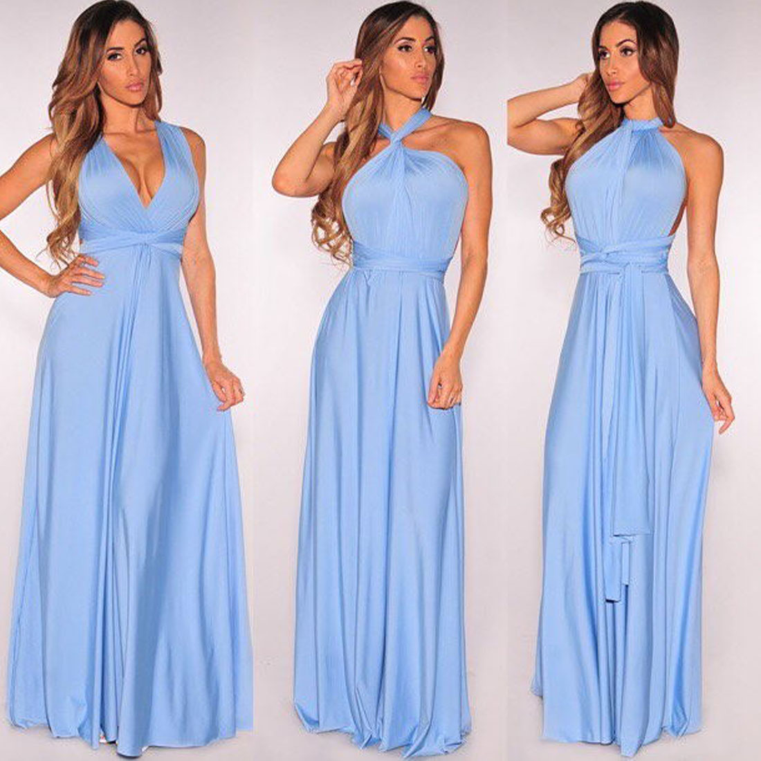 328de9f2a7 US $13.21 5% OFF|Sexy dress Multiway Wrap Convertible Boho Maxi Club Red  Dress Bandage Long Dress Party Bridesmaids Infinity Robe Longue Femme-in ...