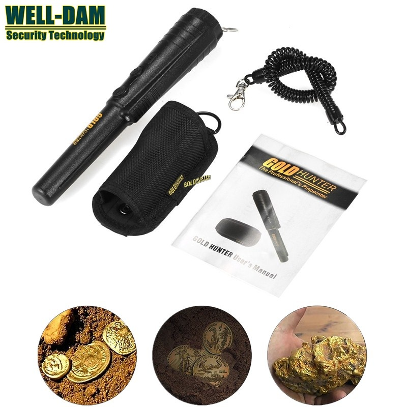 Free shipping gold hunter pinpointer metal detector underground metal detector gold metal detector welding practice model simple metal detector electronic production parts board kit diy metal detector