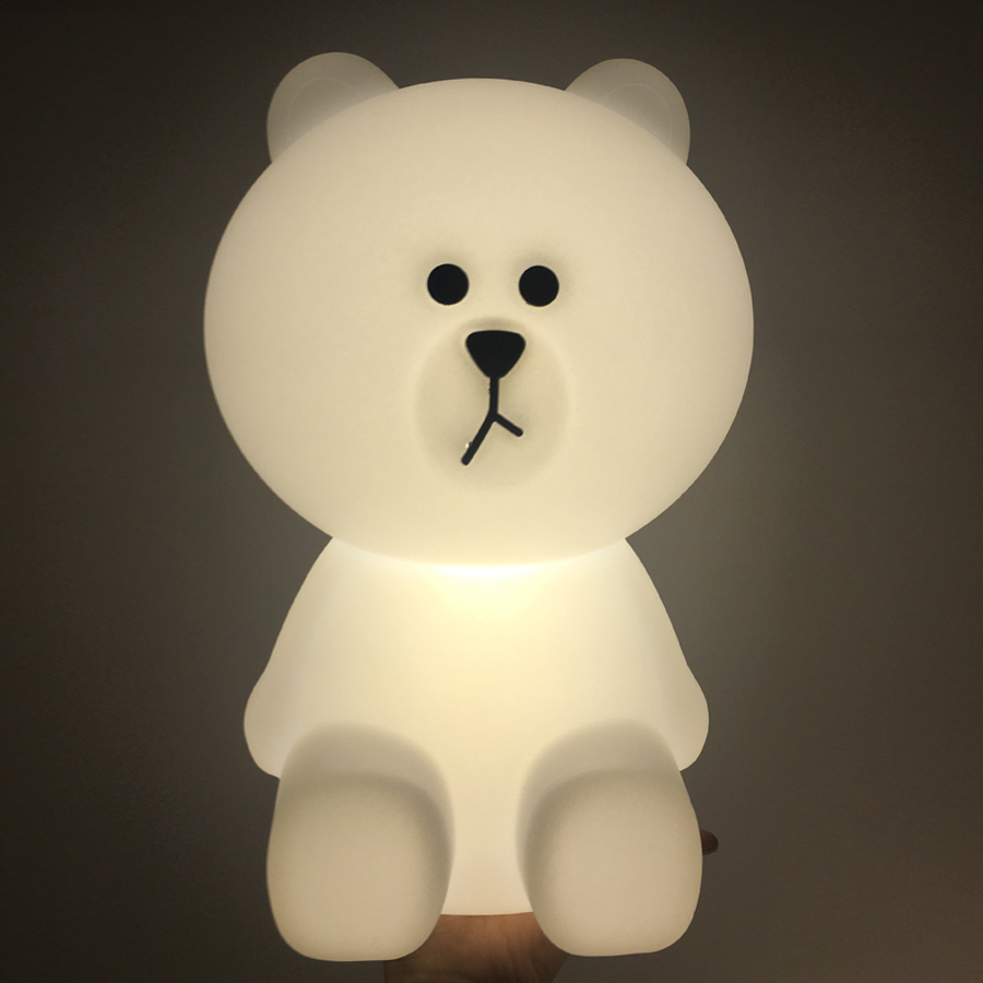 Bear Led Night Lights Dimmable Baby LED Night Lamps Bedroom Animal Cartoon Decorative Lamp Bedside Living Room Y2 rabbit lamp led table light for baby children kids gift animal cartoon decorative lighting bedside desk bedroom living room
