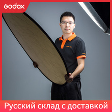 """Godox Reflector de fotografía redondo para estudio Multi disco de fotografía, luz plegable portátil de 110cm 2 en 1 43"""""""