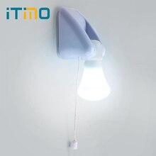 ITimo для спальни коридора Туалет провода переключатель портативный настенный шкаф лампа ночник AAA батарея светодиодные лампы