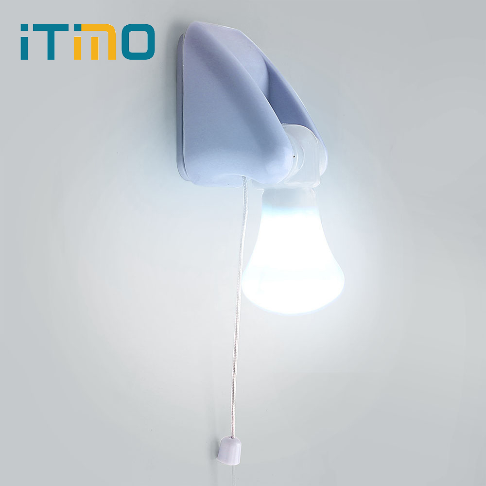 iTimo For Bedroom Corridor Toilet Wire Switch Portable Wall Mount Cabinet Lamp Night Light AAA Battery LED BulbiTimo For Bedroom Corridor Toilet Wire Switch Portable Wall Mount Cabinet Lamp Night Light AAA Battery LED Bulb