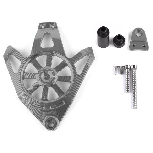 Для Yamaha NVX 155 AEROX 155 аксессуары для мотоциклов CNC алюминиевый защитный чехол для двигателя слайдер крышка протектор - Цвет: Серый