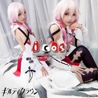 Guilty Crown Yuzuriha Inori Women Cos Anime Party Cosplay Costume Uniform Costume Free Shipping