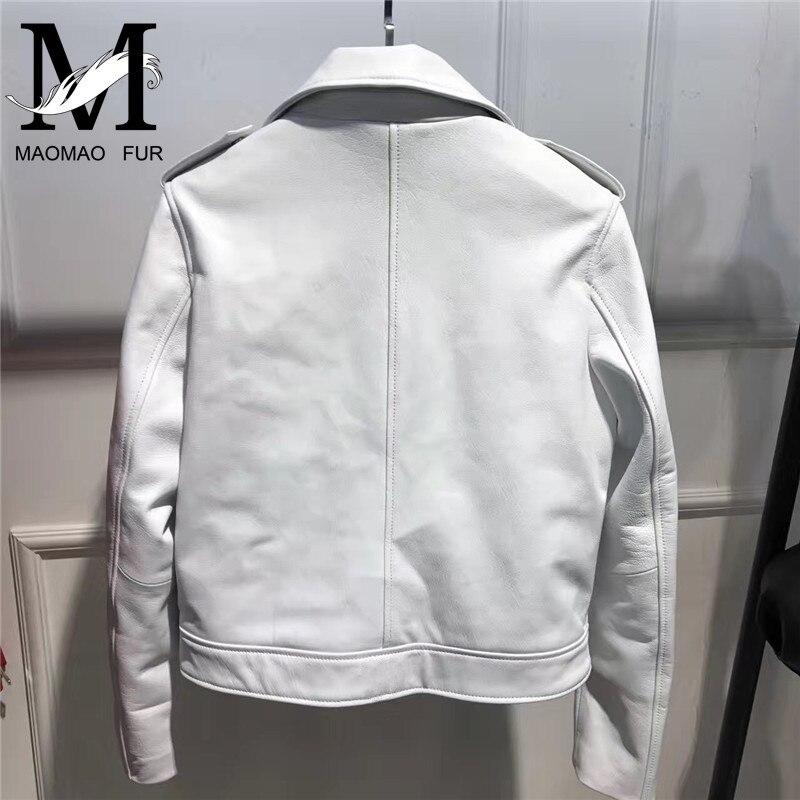 Veste Manteau Agneau Automne Dames white De Naturel Mouton Cuir Peau En Mode Femmes Nouvelles Black Véritable Courte Réel red Femelle fA5wPq4a