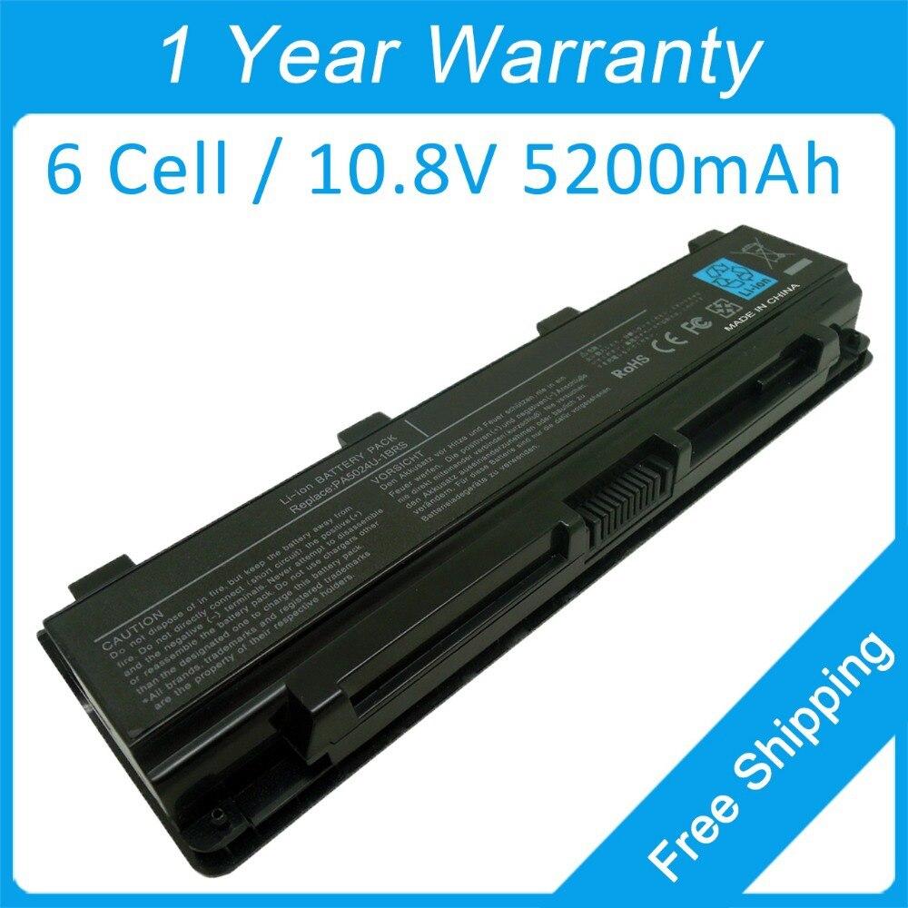 6 6-элементной аккумулятор ноутбука PA5024U PA5023U для <font><b>Toshiba</b></font> Satellite C800 C805 C845 <font><b>C850</b></font> C855 C870 C875 L800 L805 L830 бесплатная доставка