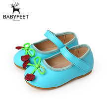 Babyfeet Fashion Breathable First Walkers Non Slip Tendon Bottom Girls Soft High Quality Single Babies Shoes For Children Kid