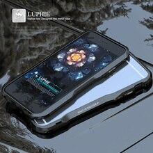 아이폰 6 케이스에 대 한 원래 금속 커버 아이폰 6 s 플러스 범퍼에 대 한 럭셔리 브랜드 3d 하드 알루미늄 프레임 shockproof 전화 커버