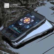 מקורי מתכת כיסוי עבור iPhone 6 מקרה יוקרה מותג 3D קשה אלומיניום מסגרת עמיד הלם טלפון כיסוי עבור iPhone 6 S בתוספת פגוש